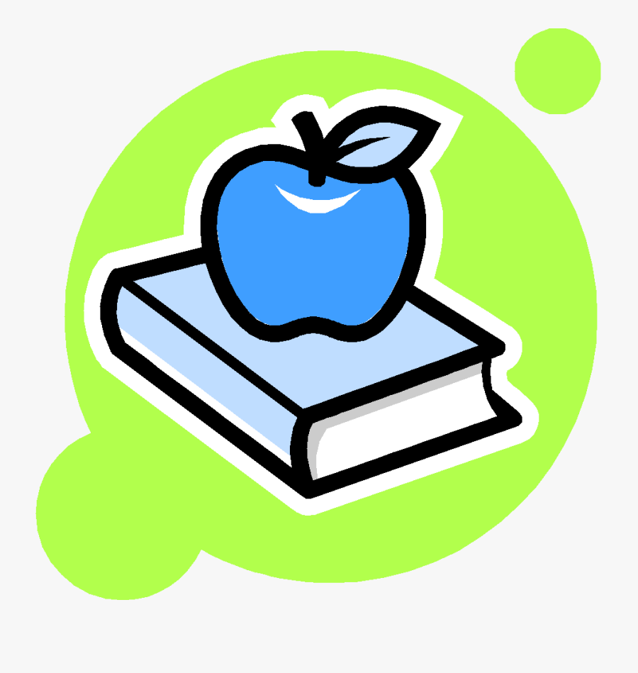 Book And Apple Clipart , Png Download - Books And Apple Clipart Black And White, Transparent Clipart