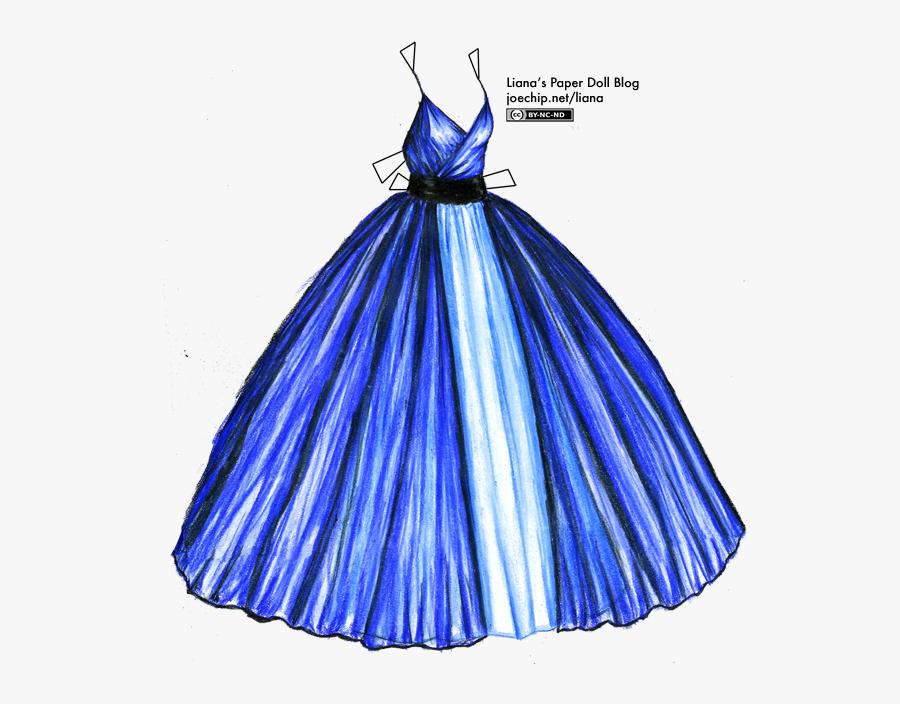 Hanger Clipart Ball Dress - Drawing Dress, Transparent Clipart