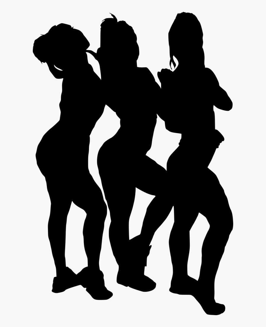 Free Png Girl Group Hoto Posing Silhouette Png Images - Black Girl Silhouette Png, Transparent Clipart