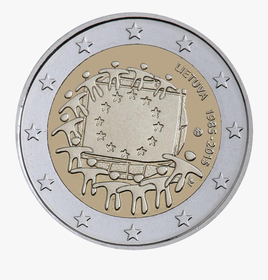 Clip Art Euro Coins Image - One Pound Coin, Transparent Clipart