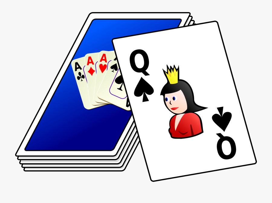 Transparent Queen Of Spades Png - Pack Of Cards Clipart, Transparent Clipart
