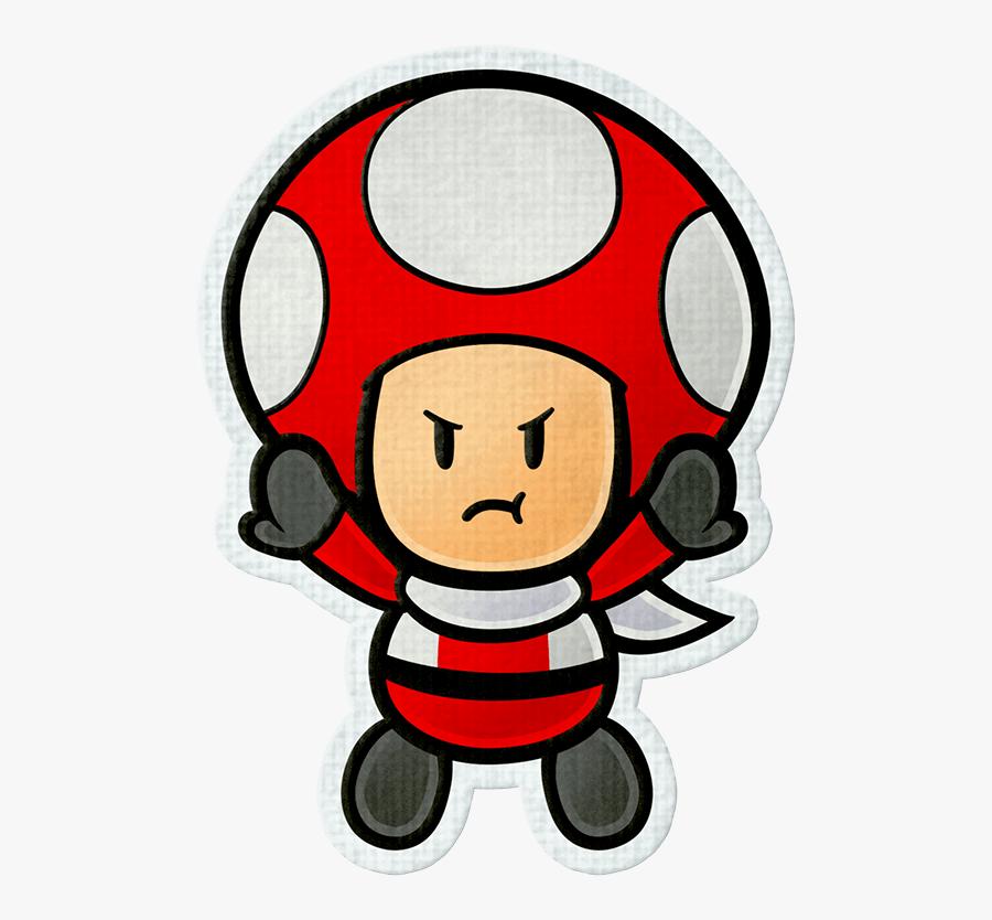 Mario Color Splash Review - Paper Mario Color Splash Toad Rescue Squad, Transparent Clipart