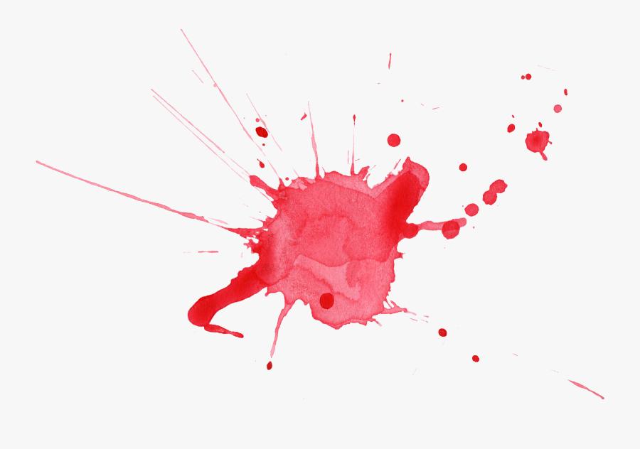 Water Color Splatter Png - Color Splash Red Png, Transparent Clipart