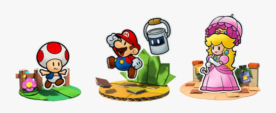 Paper Mario Color Splash Peach, Transparent Clipart
