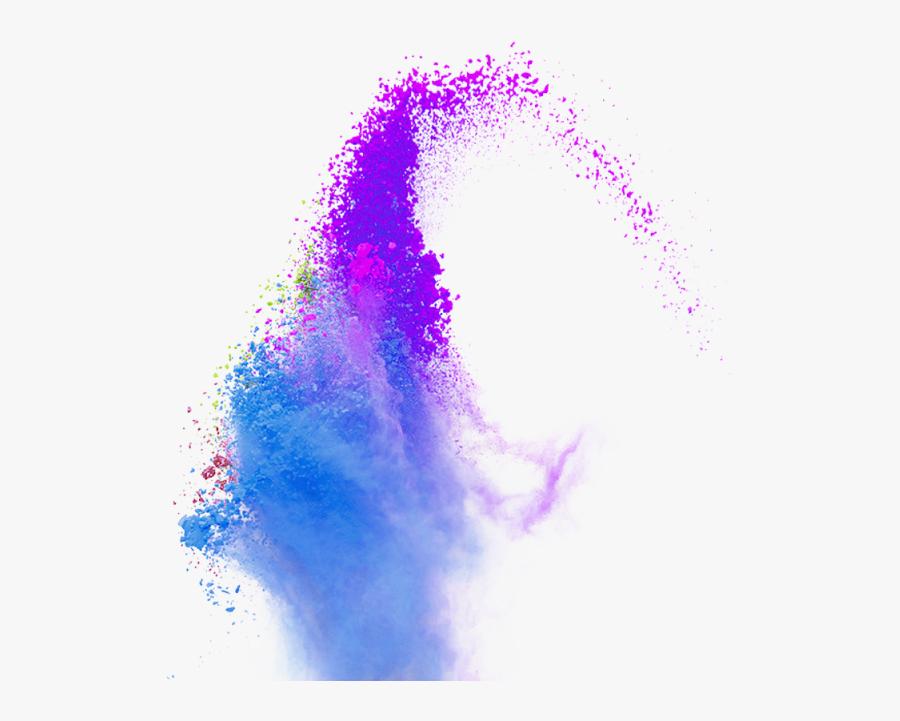 Powder Smoke Vector Blue - Color Smoke Vector Png, Transparent Clipart