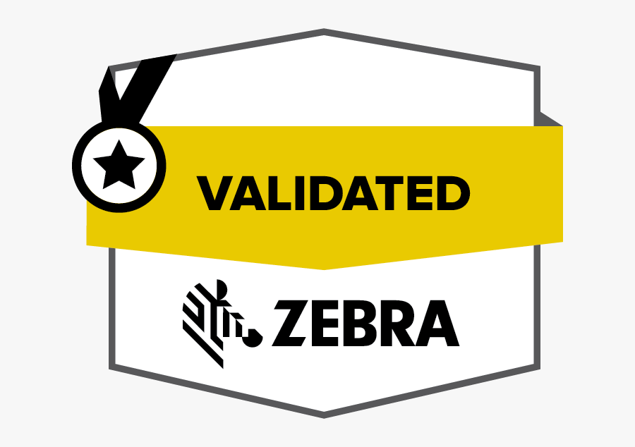 Zebra Validated Badge Color En, Transparent Clipart