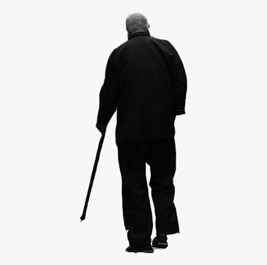 Silhouette Old Age - Old Man Silhouette Png, Transparent Clipart