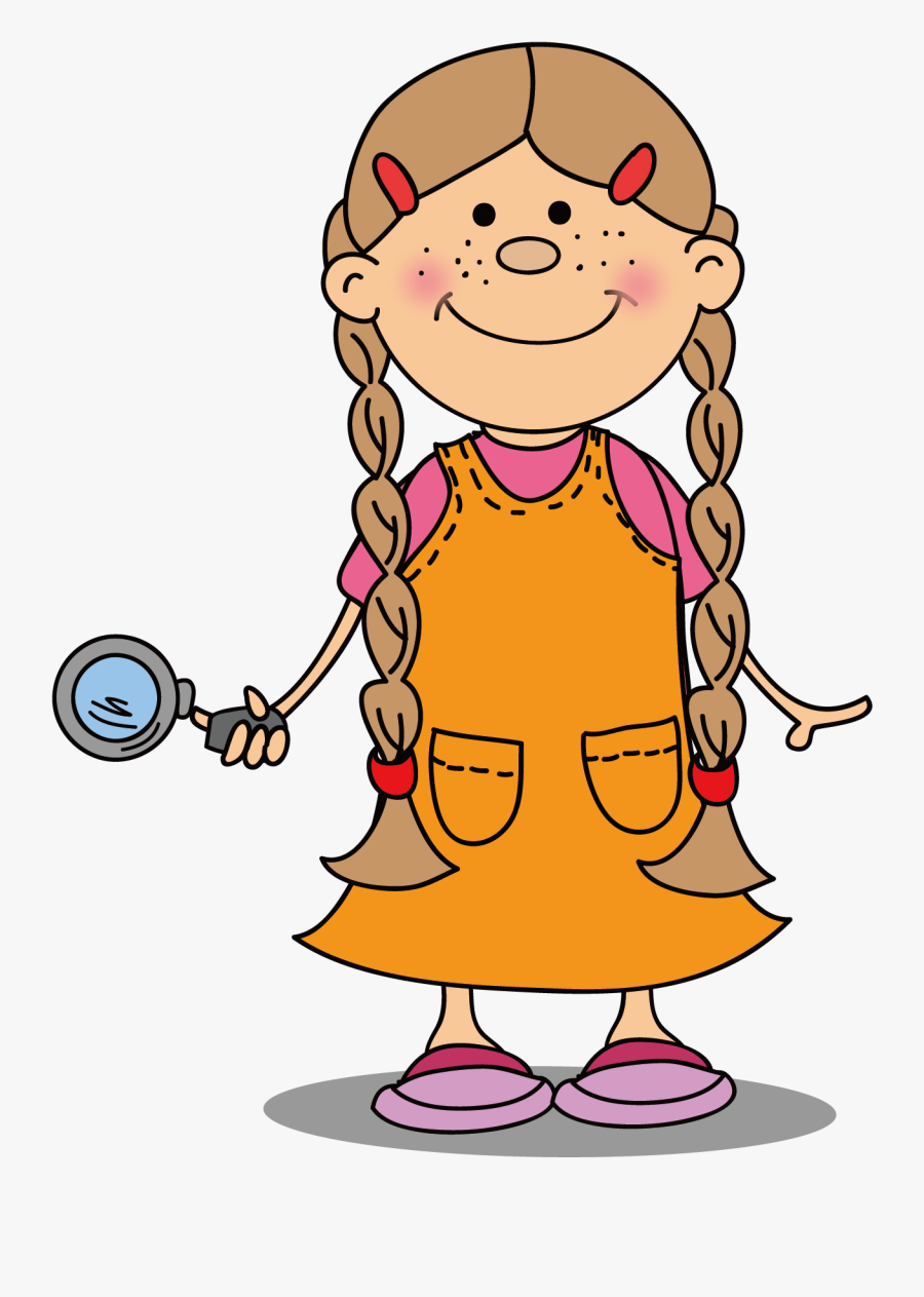 Child Drawing Girl Boy - Girl Clipart Illustration Drawing Png, Transparent Clipart