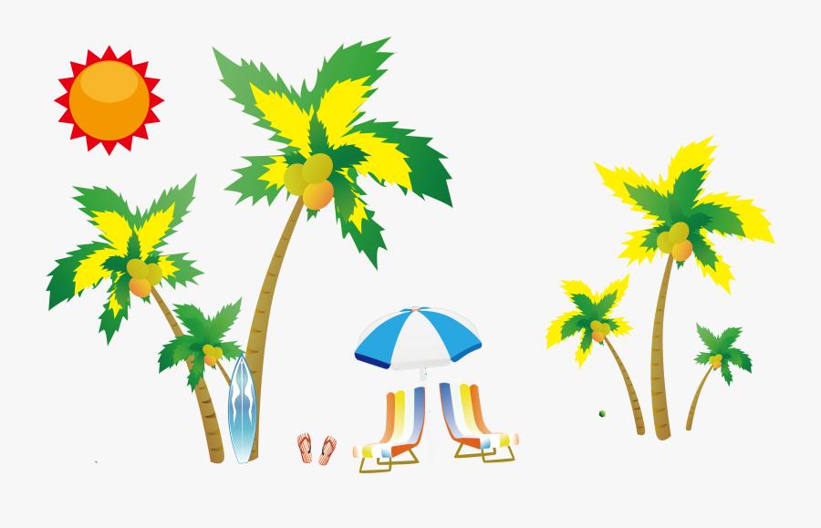 Coconut Clip Art Seaside - Beach Vector, Transparent Clipart