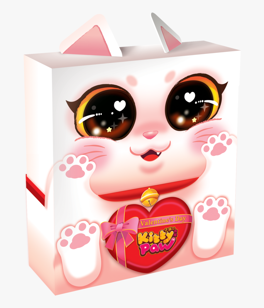 Kitty Paw Valentines Day Edition - Kitty Paw Valentine's Day Edition, Transparent Clipart
