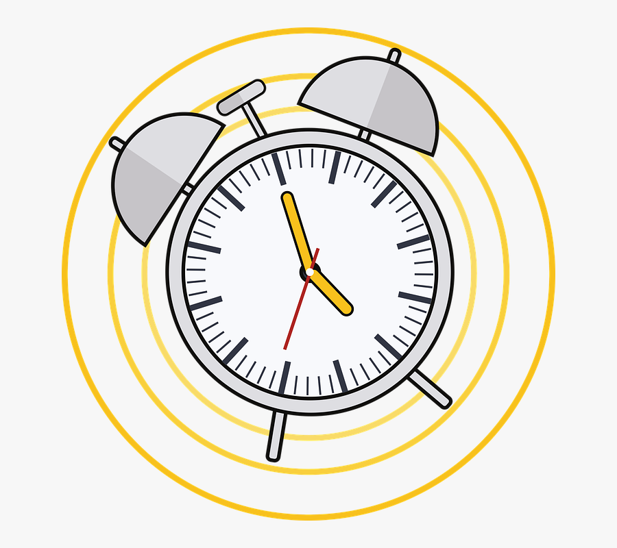 Alarm Clock, Ringing, Analog, Time, Watch, Hours, Transparent Clipart
