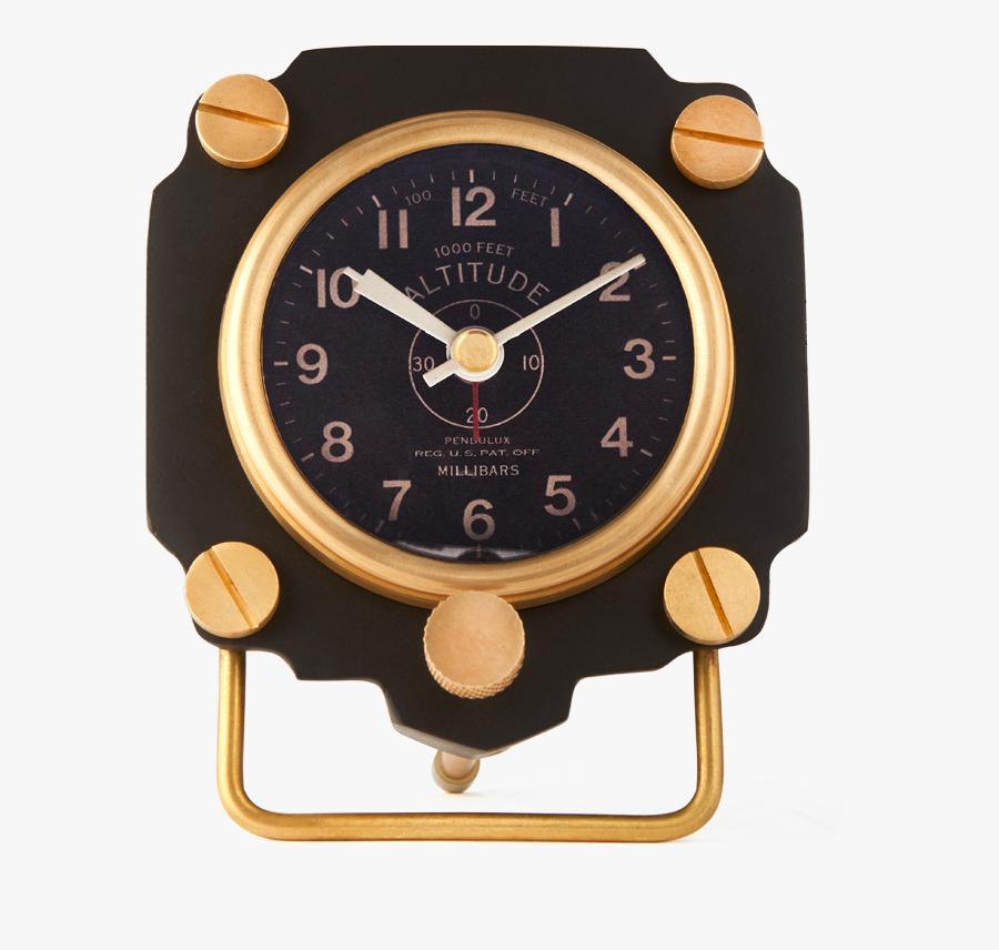 Altimeter Alarm Clock Black - Tag Heuer Wall Clock, Transparent Clipart
