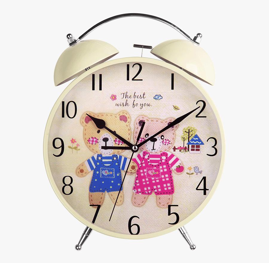 Han Clock Watch Alarm Clock Creative Student Alarm - Wall Clock, Transparent Clipart
