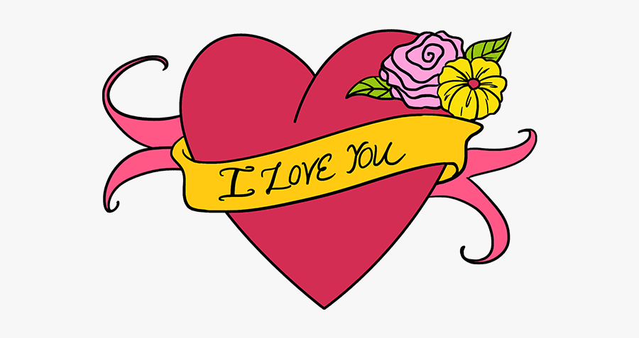 How To Draw - Draw A Cute Heart, Transparent Clipart