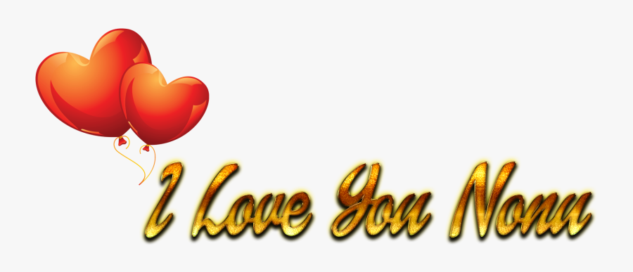 I Love You Nonu Heart Png - Happy Birthday Janu Png, Transparent Clipart