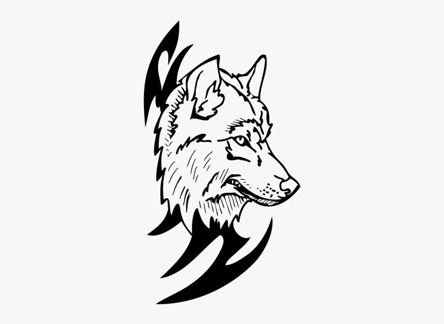 Loup Dessin Png Vector Black And White Drawing Free Transparent Clipart Clipartkey