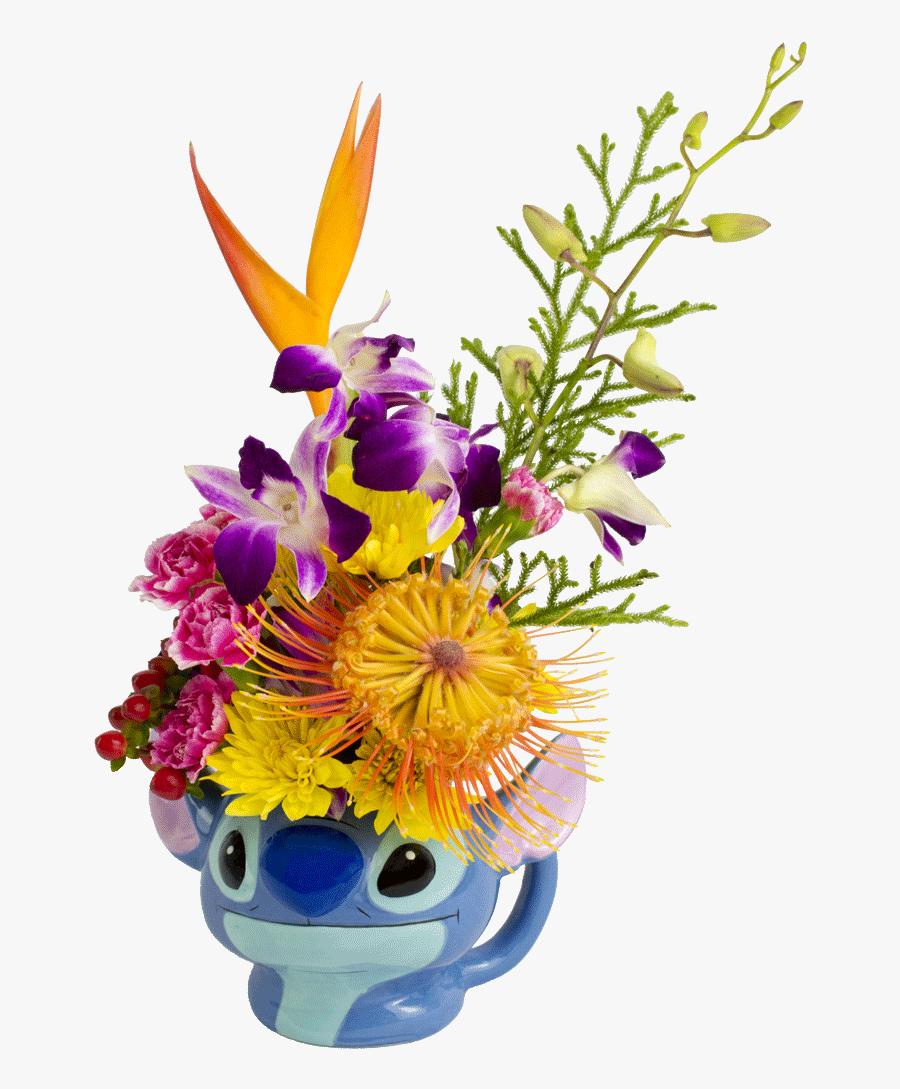 S Stitch Flower Mug Designed By Award Winning - Bouquet, Transparent Clipart