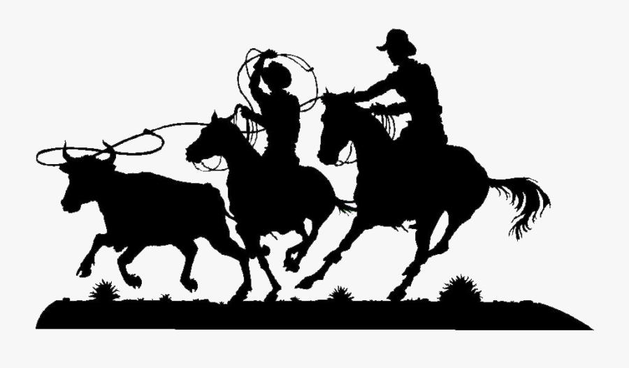 Team Roping Cattle Ranch Breakaway Roping Metal - Team Roping Png, Transparent Clipart
