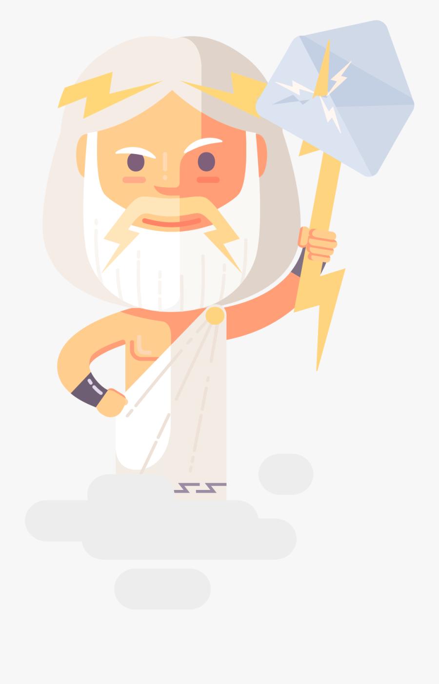Transparent Zeus Png - Illustration, Transparent Clipart