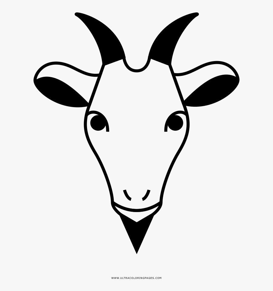 Goat Coloring Page - Horn, Transparent Clipart