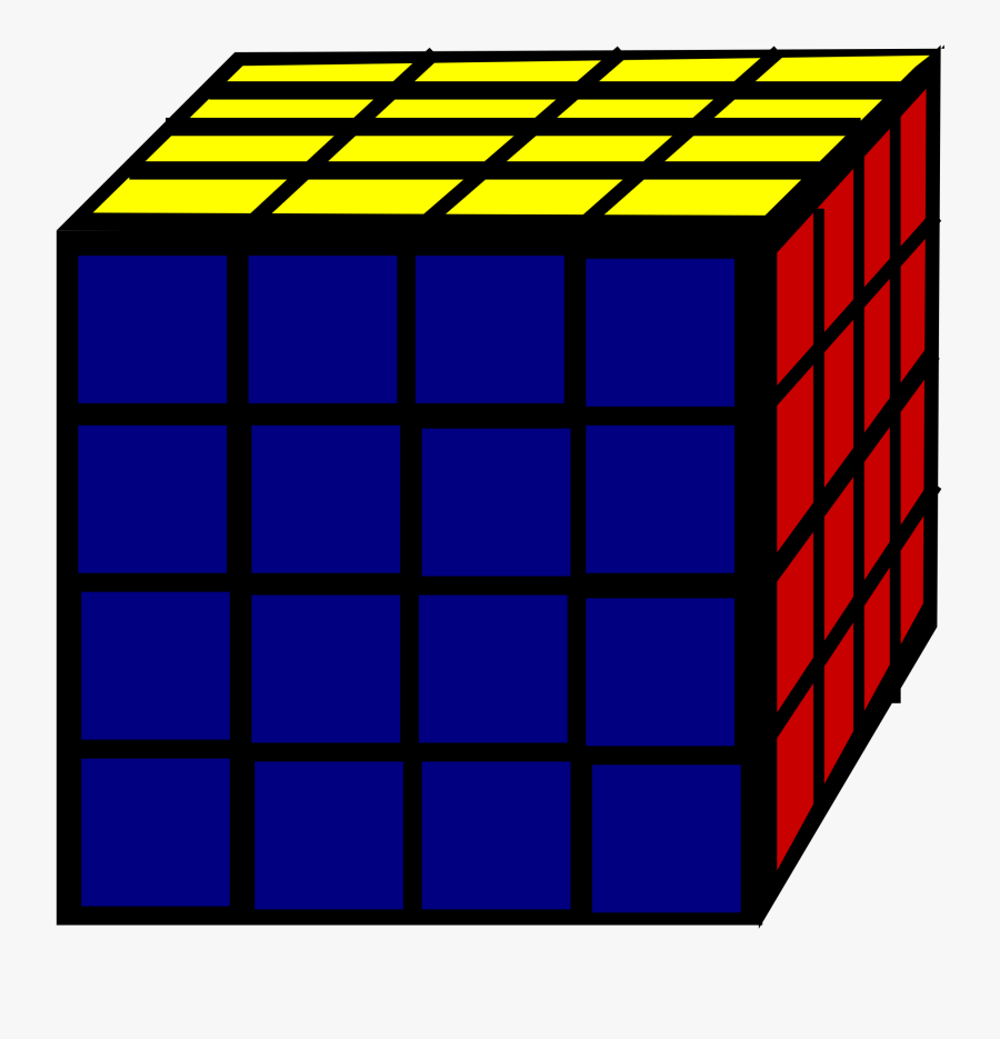 Rubic Cube Clip Arts - 4 X 4 Cube Clipart, Transparent Clipart
