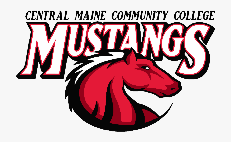 Central Maine Community College Mustangs, Transparent Clipart