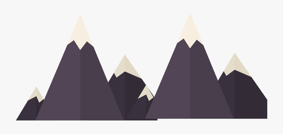 Vector Black Creative Snow Mountain Png Download - Snowy Mountains Vector Png, Transparent Clipart