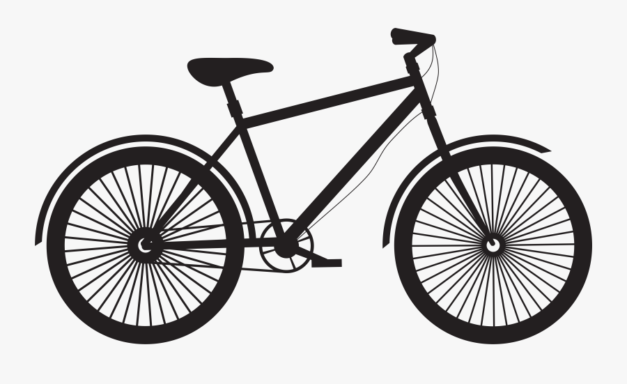 Bicycle Silhouette Png Clip Art - Varanasi Junction Railway Station, Transparent Clipart