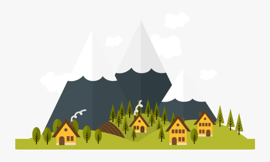 Moutain Vector Snowy Forest - Vector Mountain Png, Transparent Clipart