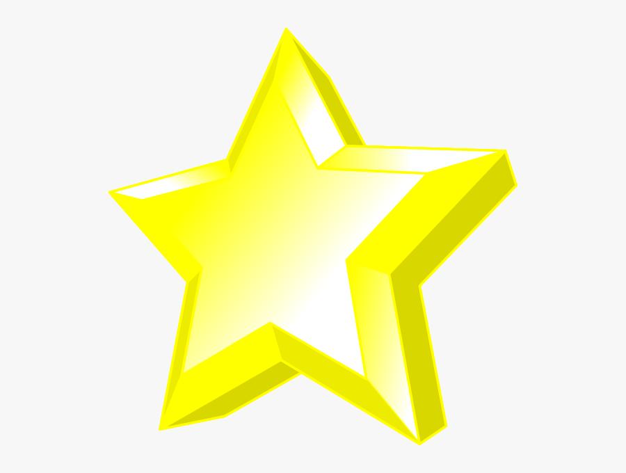 3d Star Clip Art - Graphic Design, Transparent Clipart
