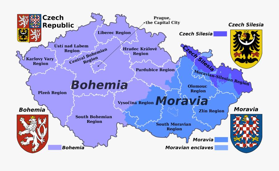 Clip Art Moravia Mazac Family Genealogy - Bohemia Map, Transparent Clipart