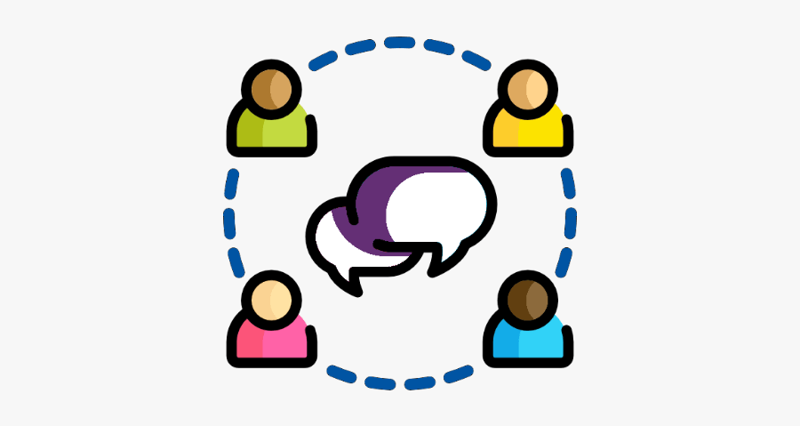 Deaf Or Hard Of Hearing Community Access Network - Circle Group People Icon Png, Transparent Clipart