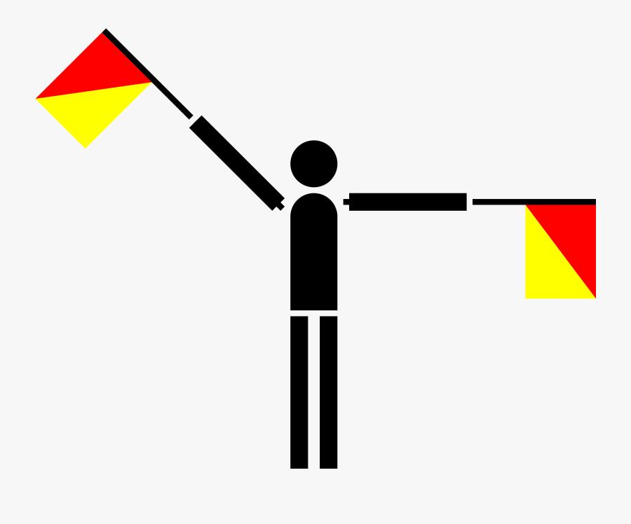 Semaphore Yankee Clip Arts - Semaphore Flag Png, Transparent Clipart