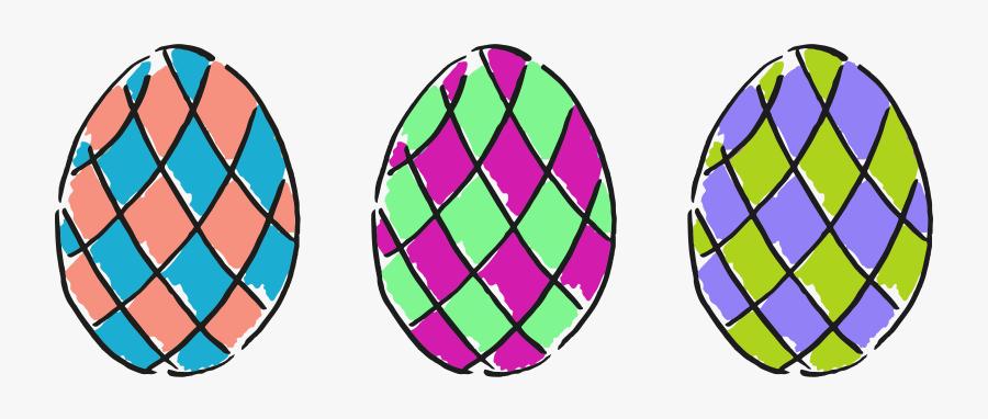 Easter Eggs 6 Clip Arts - Circle, Transparent Clipart