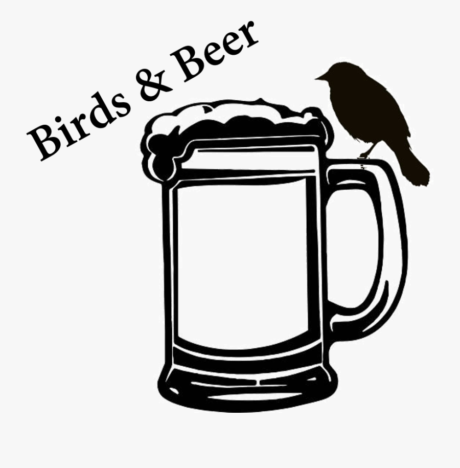 Beer Mug Black And White, Transparent Clipart