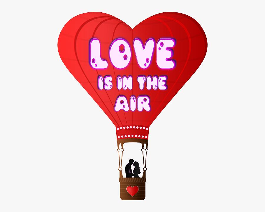 Hot Air Balloon Love Clipart, Transparent Clipart