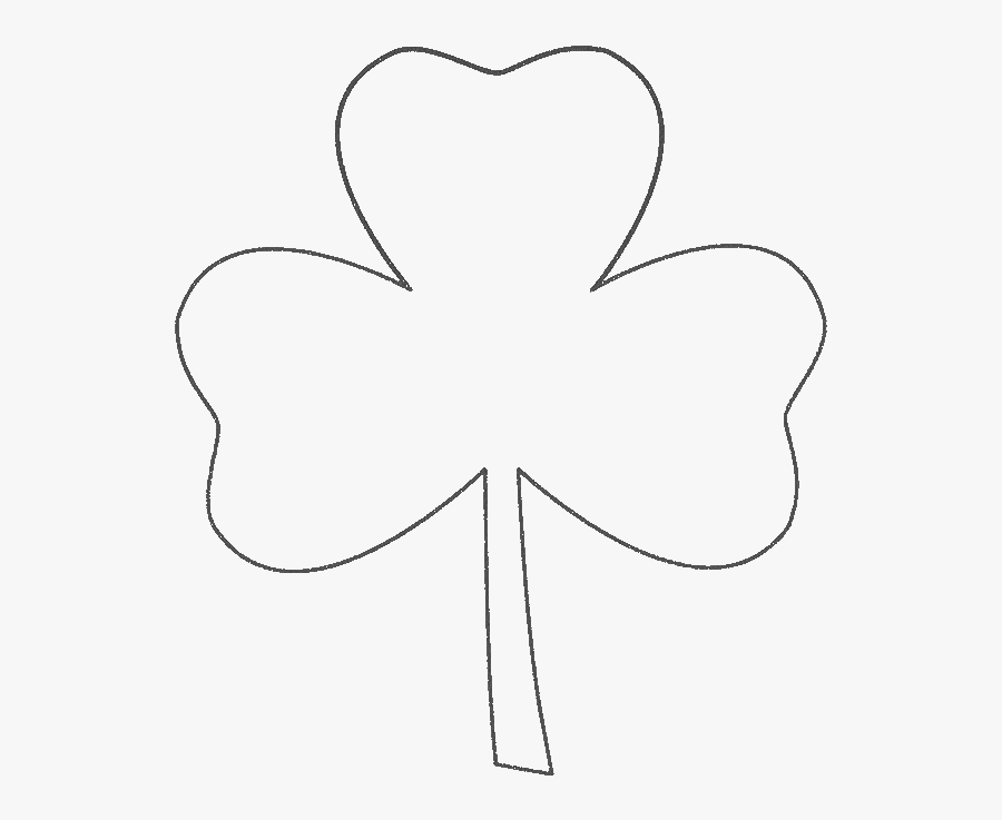 Three Leaf Clover Coloring Pages - Three Leaf Clover Drawing, Transparent Clipart