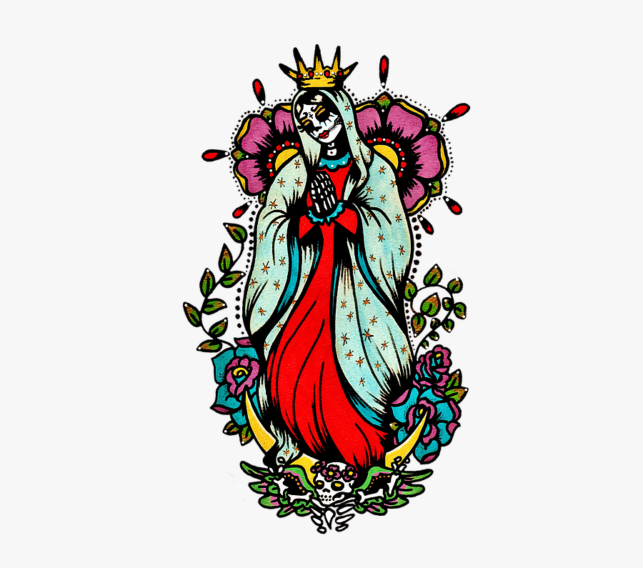 Virgin Mary Tattoo Art, Transparent Clipart