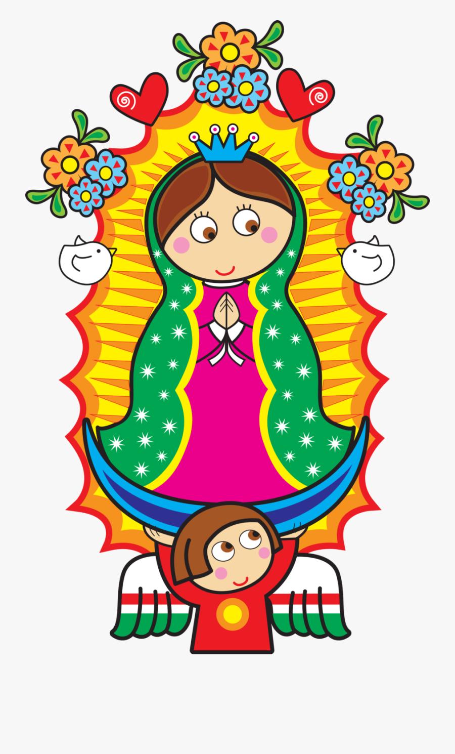 Virgen De Guadalupe Cartoon, Transparent Clipart