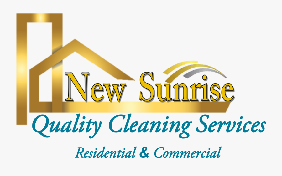 New Sunrise Quality Cleaning Services - Graphic Design, Transparent Clipart