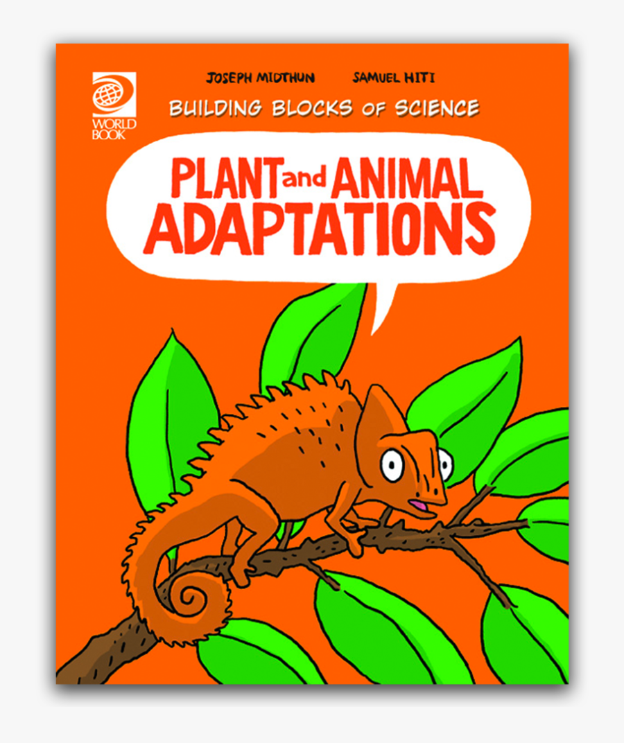 Animal Adaptations Book Cover, Transparent Clipart