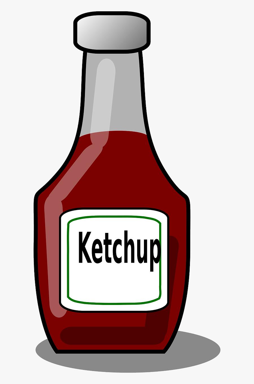 Ketchup Clipart Juice Bottle - Ketchup Bottle Clipart, Transparent Clipart