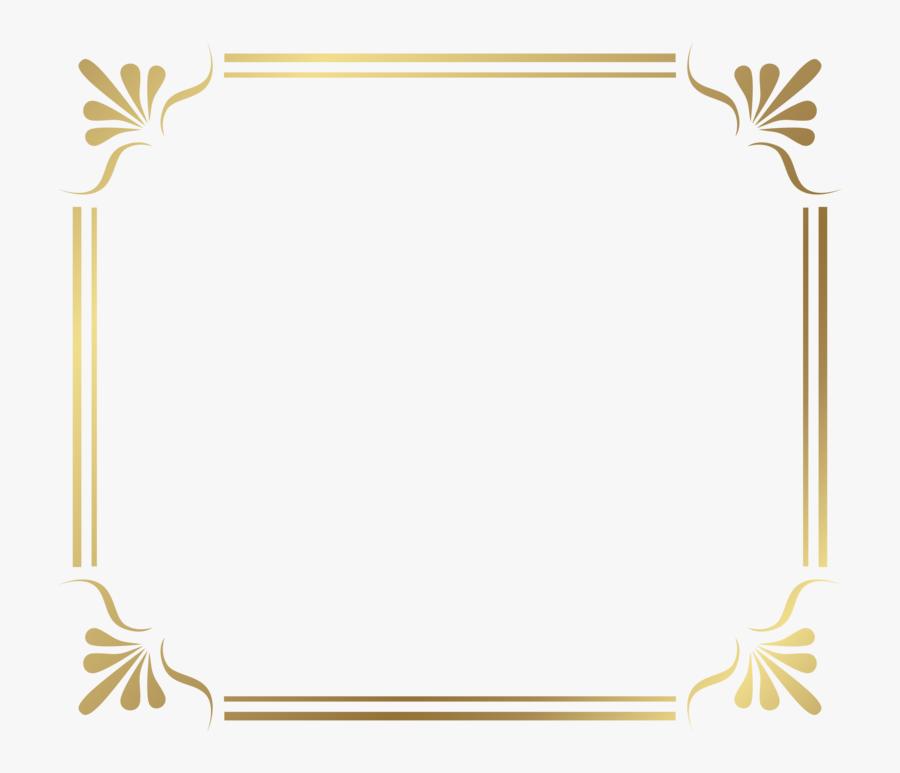 Gold Border Frame Png File - Border Lines Png, Transparent Clipart