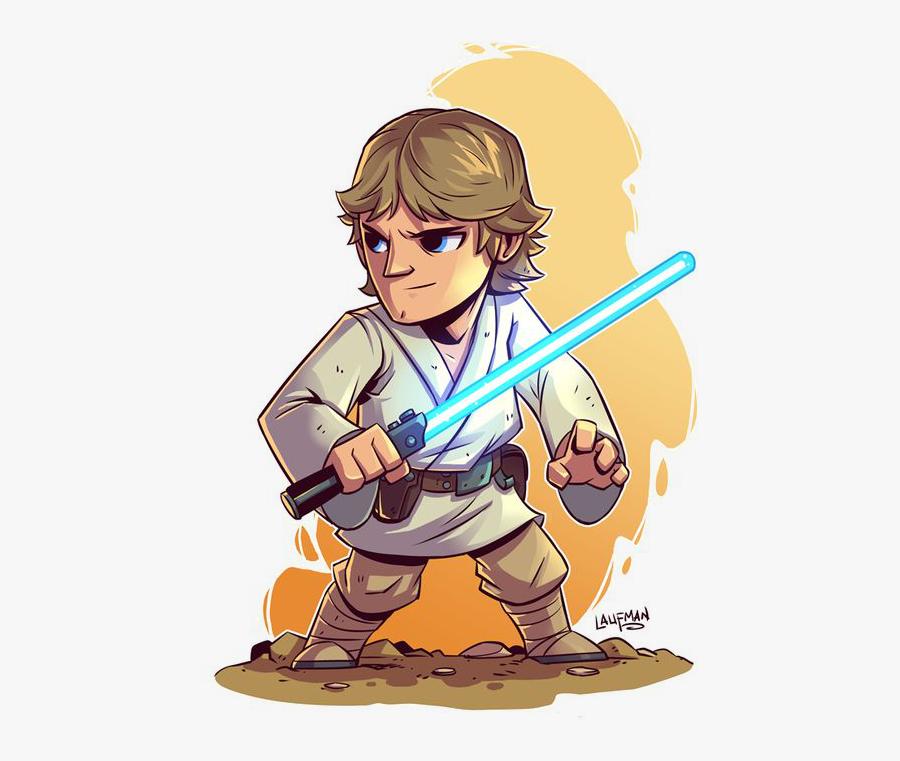 Star Wars Luke Skywalker Cartoon, Transparent Clipart