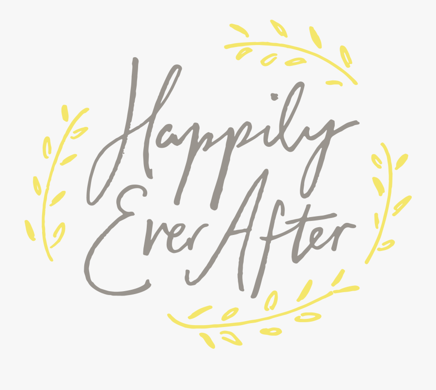 Calligraphy Happy Ever After, Transparent Clipart