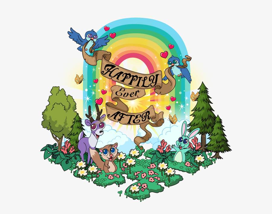 Happily Ever After Rainbow, Transparent Clipart