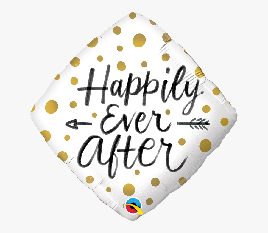 18 Inch Happily Ever After Gold Dots Foil Balloon - Qualatex, Transparent Clipart