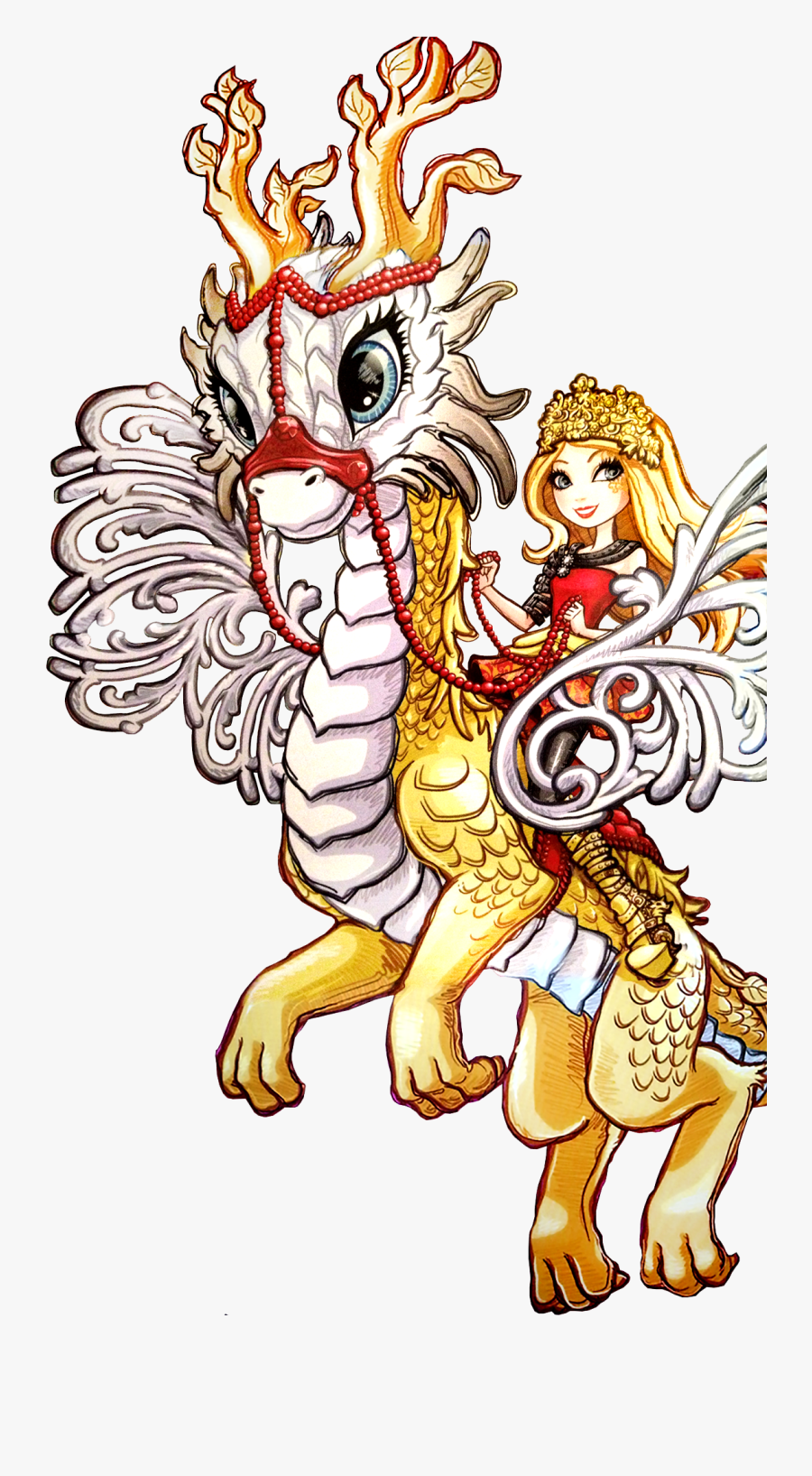 Apple Ever After High Dragons, Transparent Clipart