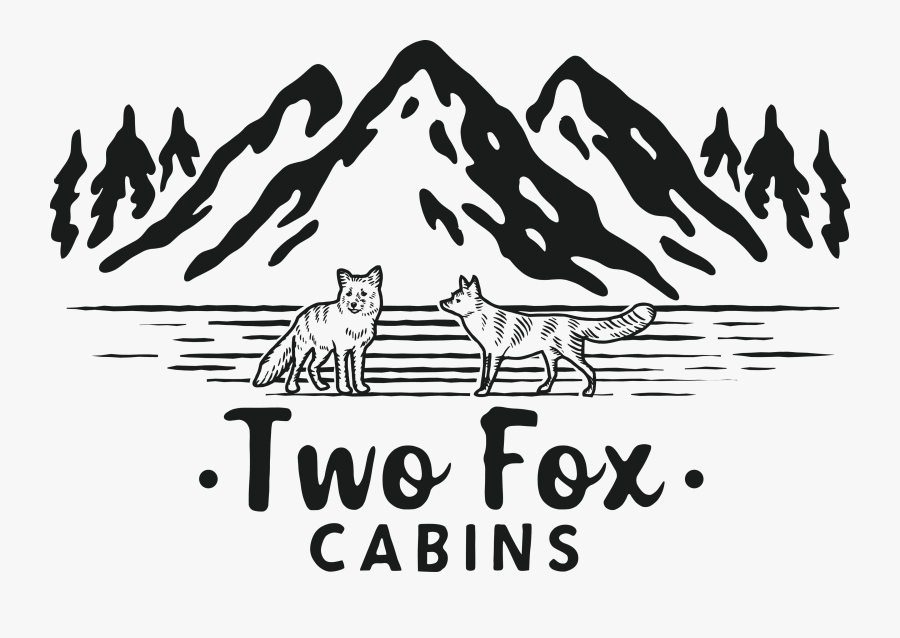 Two Fox Cabins - Illustration, Transparent Clipart