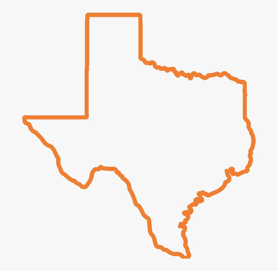 Texas Outline Png, Transparent Clipart